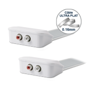 Cordon 2 RCA stéréo audio Câble plat - WIRESLIM -2m