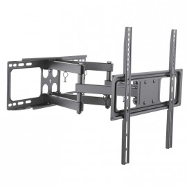 Support TV mural orientable, inclinable et dépliable
