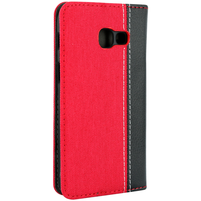Etui folio Denim II Samsung Galaxy A3 2017 - Rouge