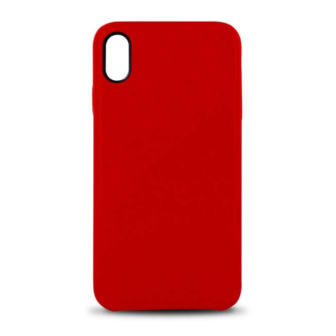 Coque rigide cuir PU pour iphone XS Max - rouge