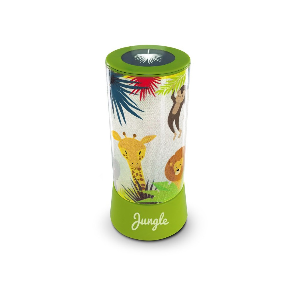 Lampe LED Jungle avec projecteur - vert