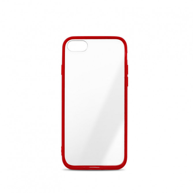 Coque semi-rigide Color Edge  pour iPhone 6/7/8/SE 2020 - contour rouge